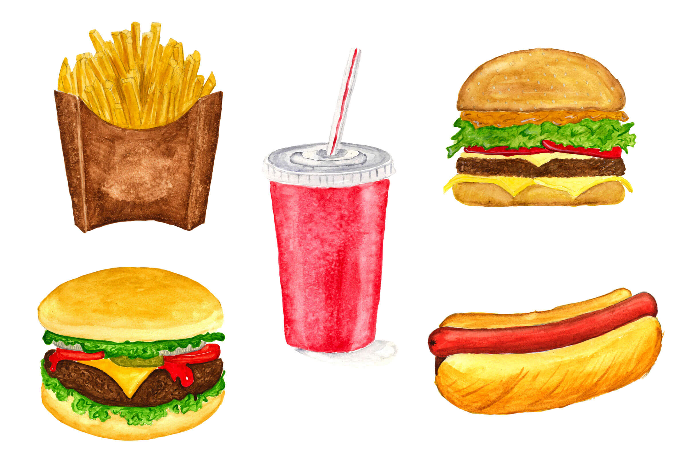 WATERCOLOR_JUNKFOOD